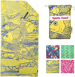 4Monster Microfiber Beach Towel for Travel Quick Dry Super Absorbent Lightweight Towel for Swimmers, Sand Free Towel, Beach Towels for Pool, Swim, Water Sports, 63x31''