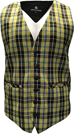 3XL Gents Cornish National Tartan Waistcoat Small