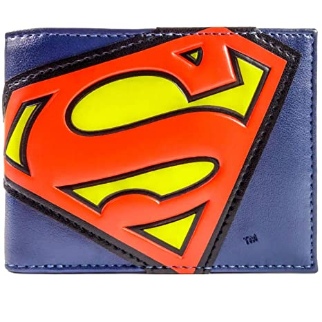 Cartera de DC Comics Superman traje Logo Azul
