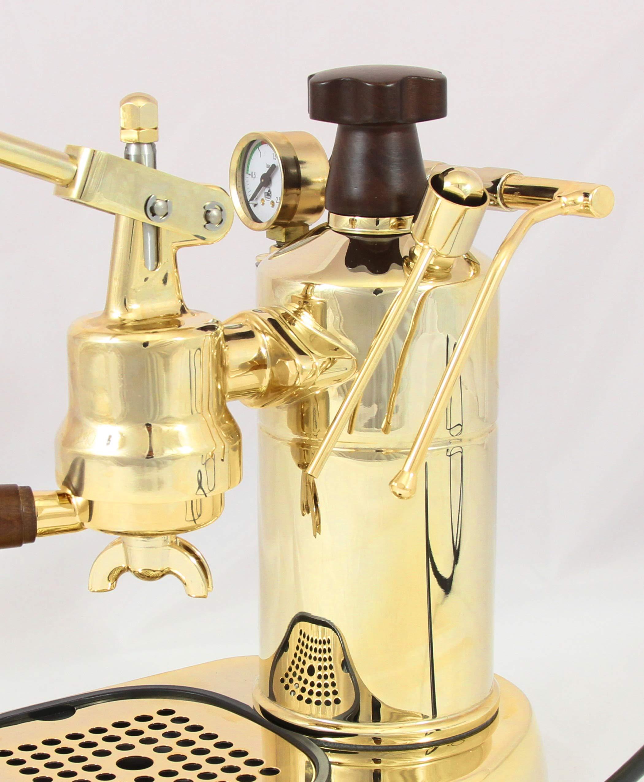 La Pavoni PPG-16 Professional 16-Cup Espresso Machine, Brass by La Pavoni
