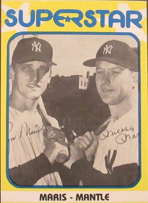Mickey Mantle Roger Maris 1980 Baseball Card 10 Supersatar Maris