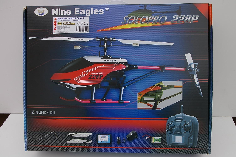 Solo Pro 228P Sport RTF 2.4 GHz Robuster Single-Rotor Hubschrauber mit 2.4 GHz LCD-Fernsteueranlage