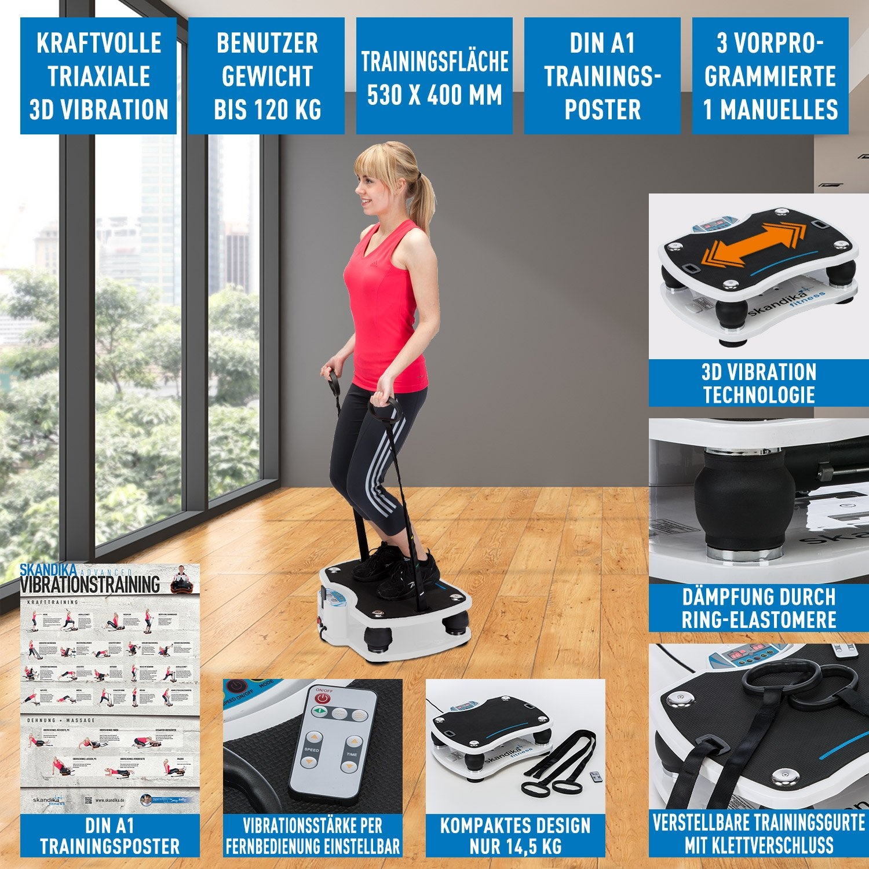 skandika Home 500 Plataforma vibratoria, uso doméstico, max.120 kg ...