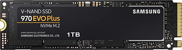 Samsung 970 EVO Plus SSD 1TB - M.2 NVMe Interface Internal Solid State Drive with V-NAND Technology (MZ-V7S1T0B/AM)