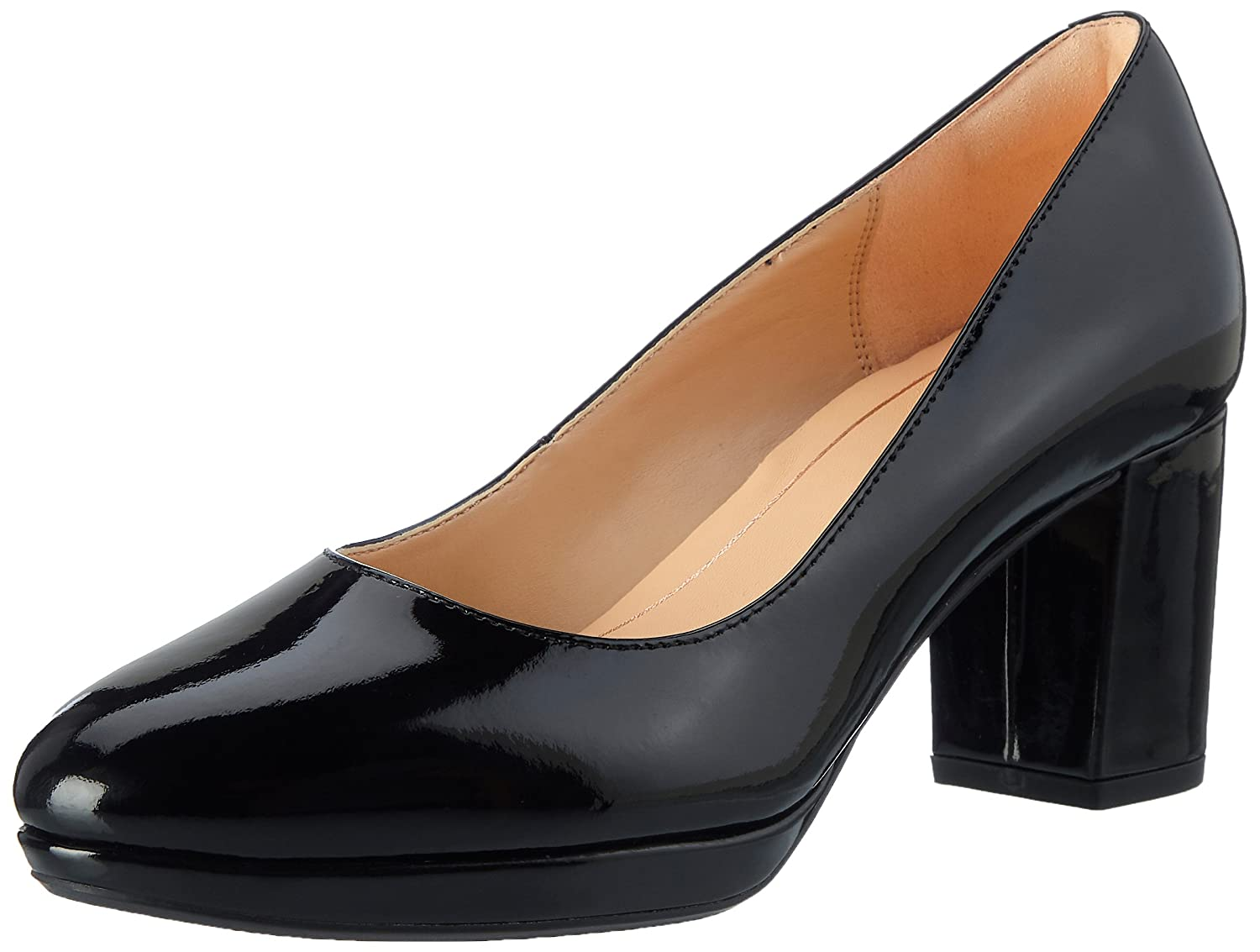 Clarks Damen Kelda Hope Pumps36 EU|Schwarz (Black Pat)