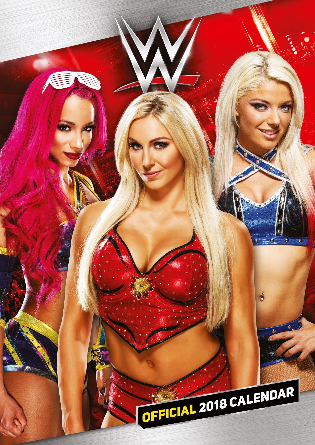 World Wrestling Divas Official 2018 Calendar   A3 Poster Format