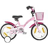 PROMETHEUS® Premium Vélo pour enfants à partir d'env. 3-4 | Edition Classic 14 Pouces | Couleur Rose & Blanc