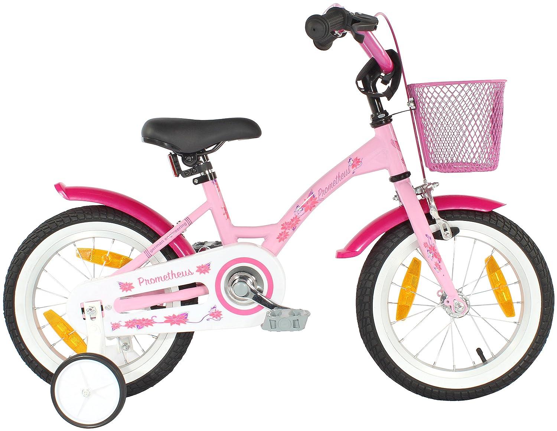 low-cost PROMETHEUS bicicleta para niñas 14 pulgadas color rosado ...