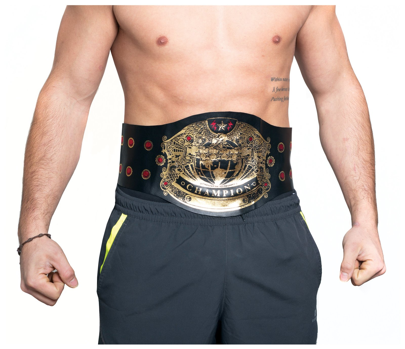 Men's Champion Wrestling Belt Costume Accessory (One Size) by Largemouth