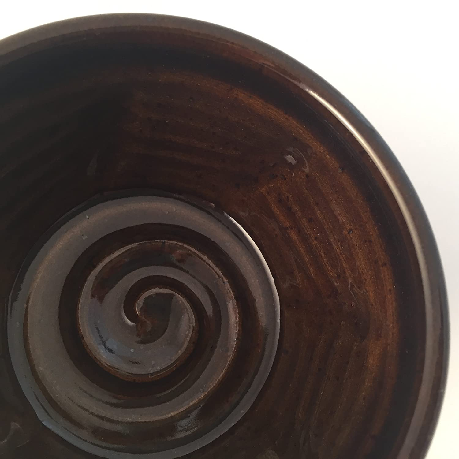 Shaving Bowl in Brown for Men - Handmade Pottery