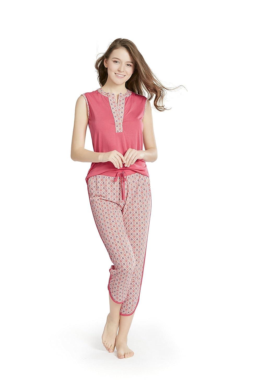 quality design b60d2 2aefb Beste Damen Schlafanzug Pyjama Set - Sommer Nachtwäsche ...