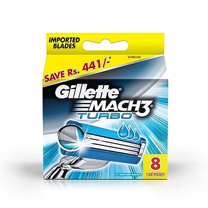 Gillette Mach 3 Turbo cartuchos de afeitado 8