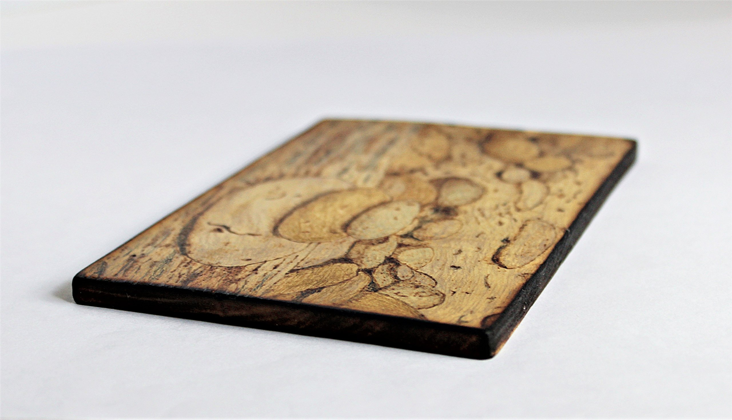 Wood Burned Cairn Stones Pyrography Small Woodburned Nature Rocky Shoreline Picture Desktop Art by Hendywood (Image #4)