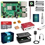 LABISTS Raspberry Pi 4 Model B 4GB RAM MicroSDHCカード32G/NOOBSシステムプリインストール/カードリーダ /5.1V/3A Type-C スイッチ付電源/MicroHDMI-to-HDMIケーブルライン/三つヒートシンク/簡単に取り付けケース/日本語取扱説明書/24ヶ月保証