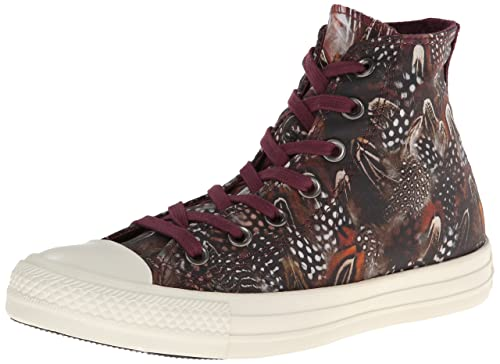 Converse Womens Ladies High Top Feathers Trainers Print Sport Shoes Footwear
