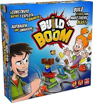 Goliath- Build or Boom Juego de Construcción y Habilidad, Color Azul/Amarillo/Rojo (77106): Amazon.es: Juguetes y juegos