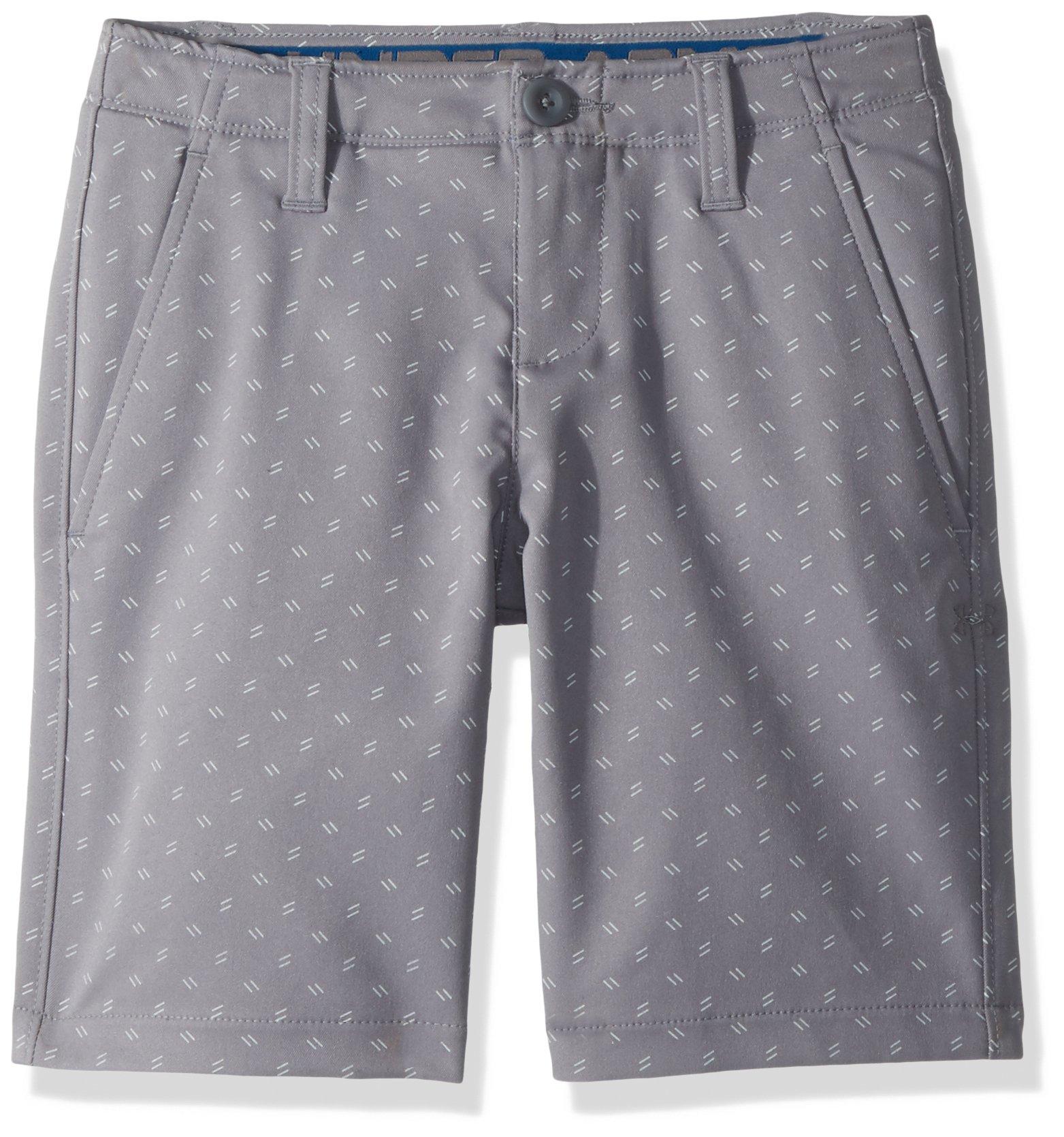 Under Armour Boys' Match Play Printed Shorts, Zinc Gray (513)/Zinc Gray,10