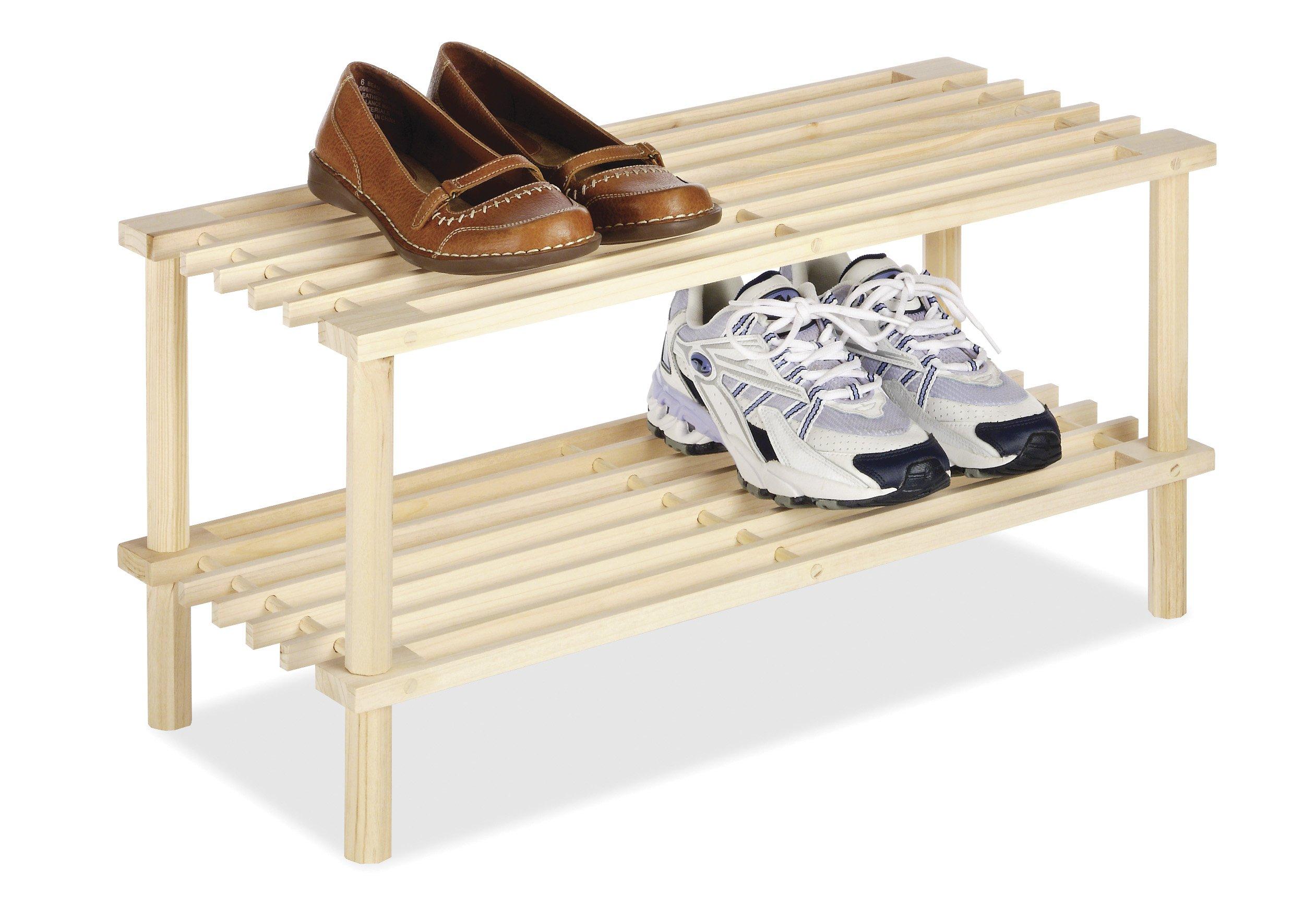 Whitmor 2 Tier Wood Household Shelves