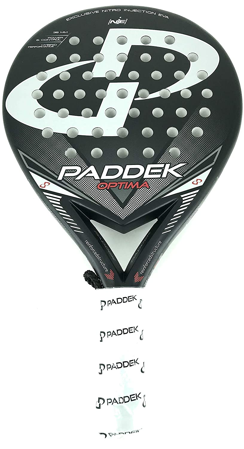 Pala de pádel Paddek - Optima Absolute Carbon: Amazon.es ...
