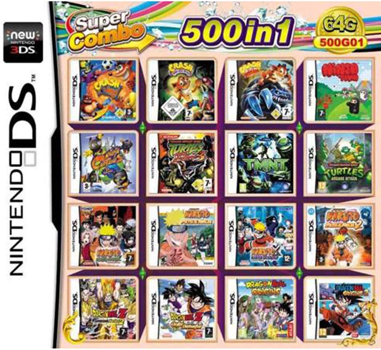 CMLegend 500 Jeux en 1 NDS Jeu Lot Carte Super Combo Cartouche pour DS 2DS New 3DS XL