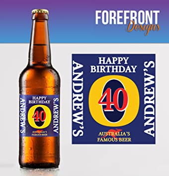 Custom Party Favour//Wedding Favour//Birthday Gift//Anniversary//Fathers Day//Christmas Gift Perfect Gift idea Pack of 4 Any Wording for Any Occasion or Event Personalised Beer//Lager Bottle Label