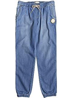 Roxy Las Chicas - Pantalon en Denim Ample pour Fille 8-16 Ans ERGDP03049 a02234bc20f