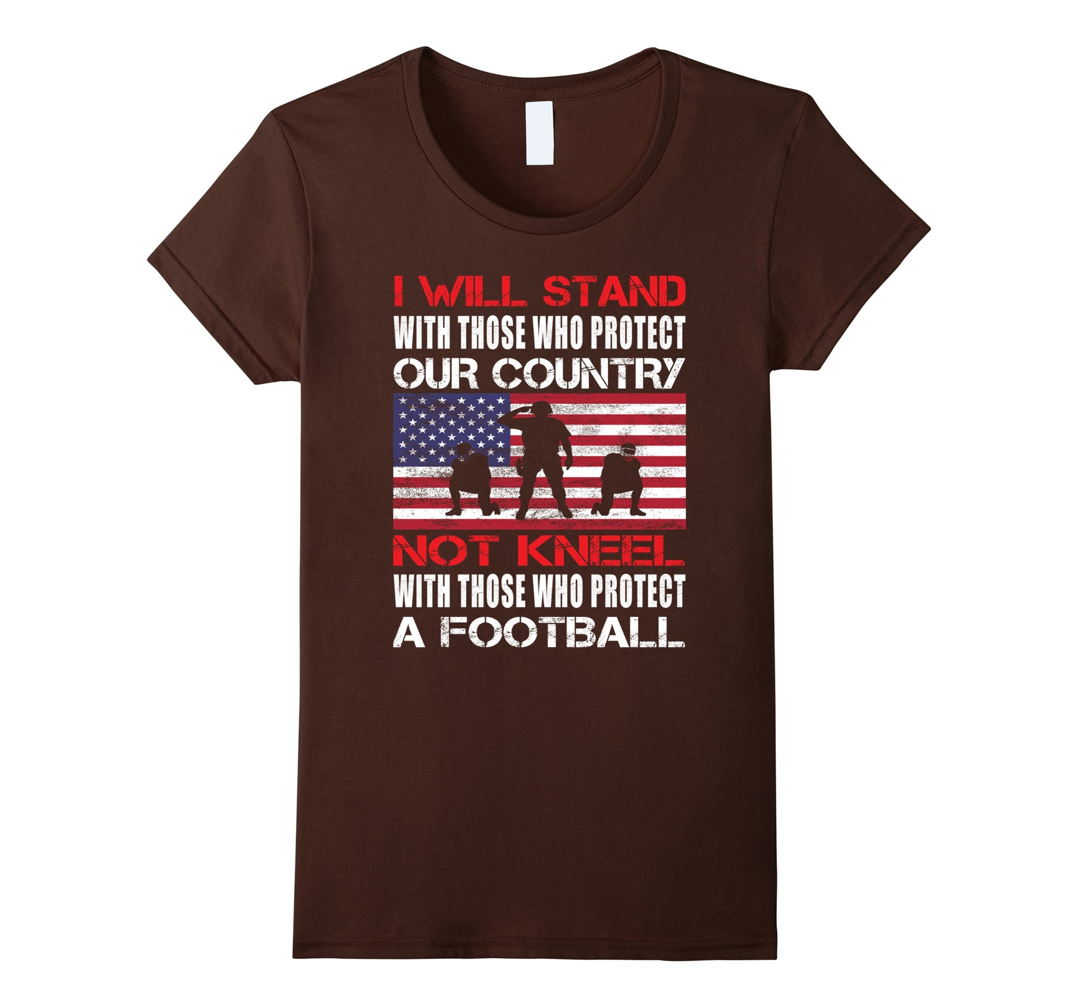 Distressed I Will Stand For The Flag Not Kneel Shirt US Flag