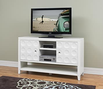 Kathy Ireland By Martin Crescent 36 Tall Tv Stand In White Amazon