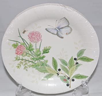 Lenox Butterfly Meadow Pink 16 Coated Luncheon / Dessert Paper Plates & Amazon.com: Lenox Butterfly Meadow Pink 16 Coated Luncheon / Dessert ...