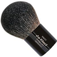 Da Vinci Kabuki Pincel en A Cuero Negro de pelo oscura de la manga de Brown cabra de montaña