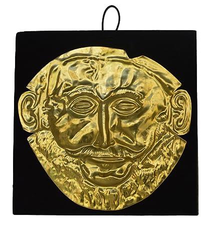 Estia Creations - Máscara de Escultura de Bronce Agamemnon, réplica de la máscara del Rey de micena: Amazon.es: Hogar