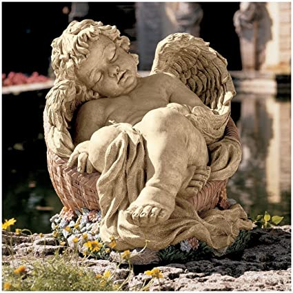 Classic Sleeping Cherub Baby Angel Home Garden Statue Sculpture Figurine