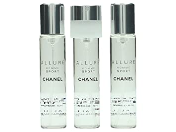 b0601b85cc66 Buy Chanel Allure Homme Sport EDT Travel Spray Refills (3 Refills)  3x20ml/0.7oz Online at Low Prices in India - Amazon.in