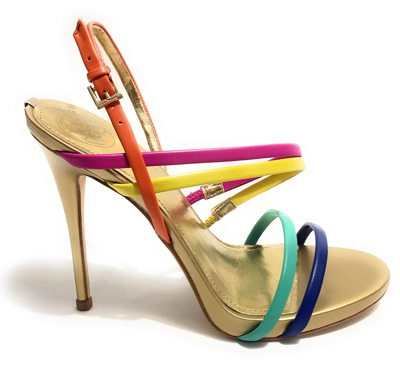 Mehrfarbig Guess Damen Tiany3 Sandalo (Sandal) Leathe Riemchen Pumps, Mehrfarbig