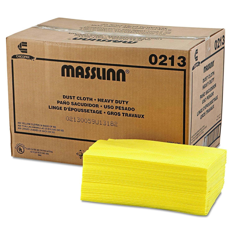 Chicopee 0213 24-Inch Length by 16-Inch Width Yellow Heavy Duty Masslinn Dust Cloth (Case of 400)