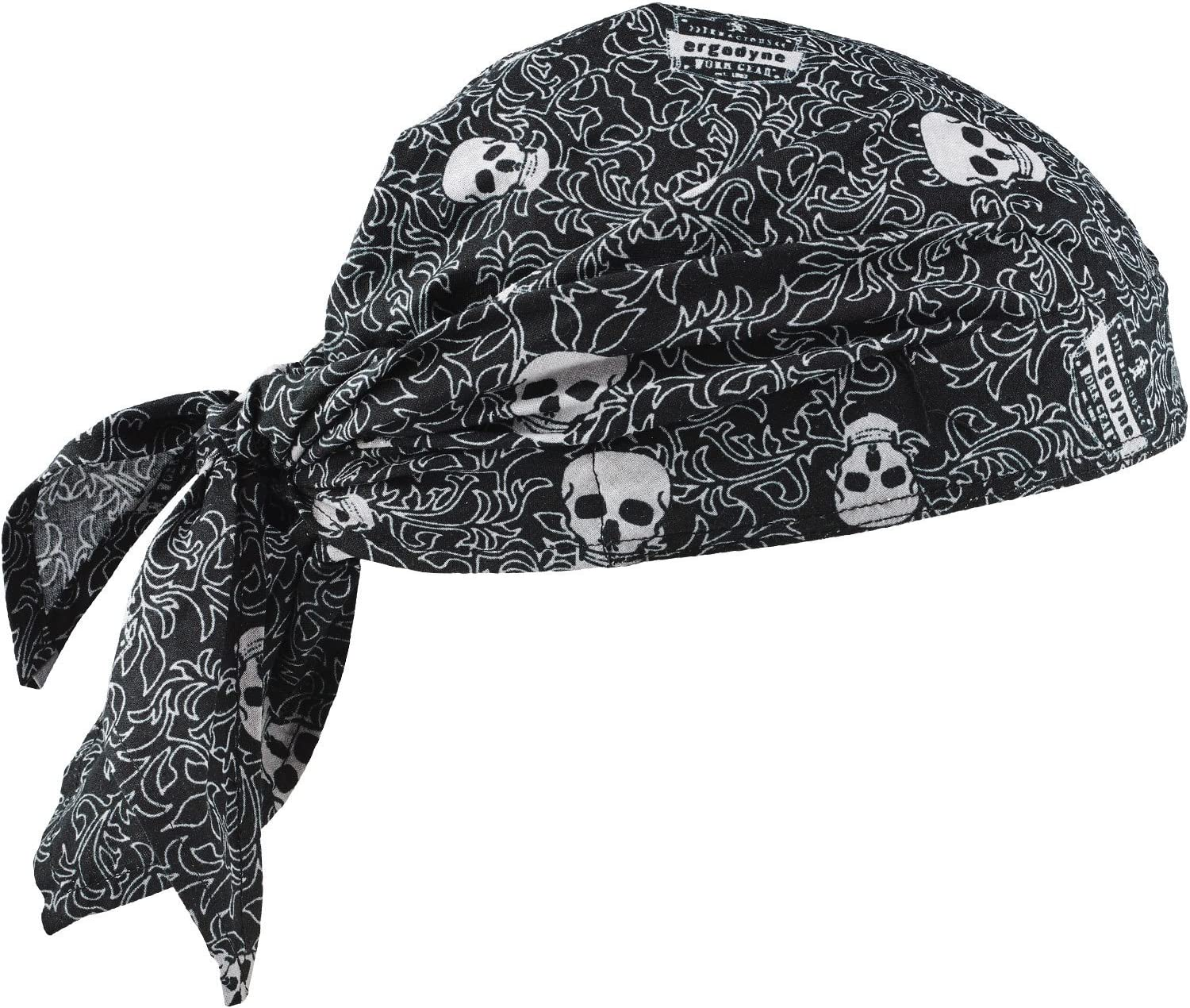 Ergodyne Chill-Its 6710 Evaporative Polymer Cooling Dew Rag, Skulls