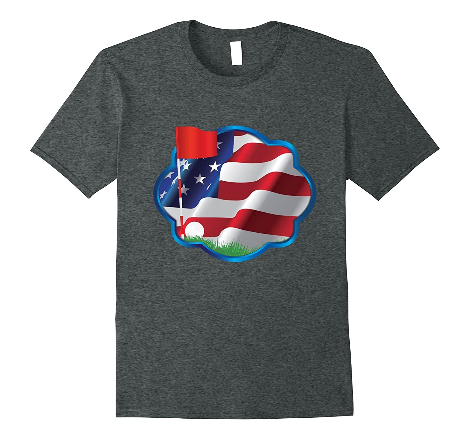 American Flag Golf Dad T-Shirt, July 4th – Father's Day Gift