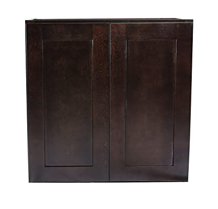 Charmant Design House 562322 Brookings 27 Inch Wall Cabinet, Espresso Shaker