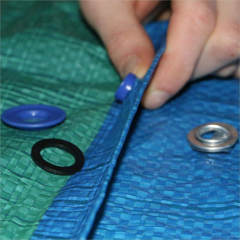 30 ojales de pl/ástico ojales redondos para lonas di/ámetro interior de 11,5 mm