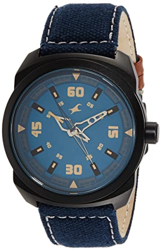 8. Fastrack Analog Blue Dial Men's Watch-NK9463AL07