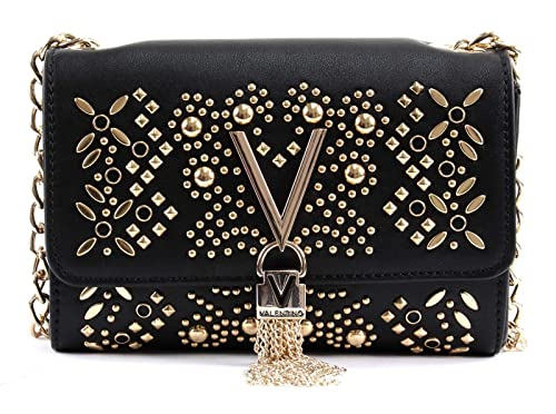 d857cee30bed Valentino By Mario Valentino Marilyn Black Stud Embellished Cross-Body Bag  Black Leather  Amazon.co.uk  Shoes   Bags