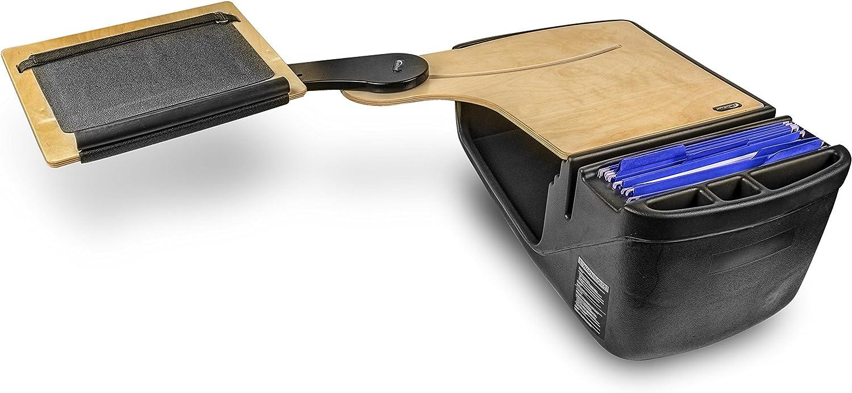 AutoExec Reach Desk Elite-01 BS Vehicle Desks Black/Grey/Birch Reach Desk Elite with Extended Arm (Backseat)