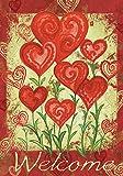 Toland Home Garden 112585 Toland-Garden Hearts-Decorative Valentine Day Welcome Red Love USA-Produced Garden Flag