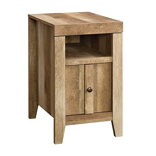 Sauder Dakota Pass Side Table, Craftsman Oak finish