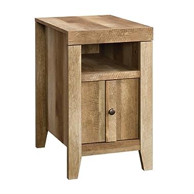Sauder 420139 Dakota Pass Side Table, L: 16.54  x W: 21.46  x H: 26.50 , Craftsman Oak finish