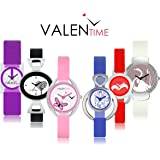 SVM Analogue Multicolor Dial Combo Of Women's & Girl's Watch (Vt-03-07-12-19-26-27)