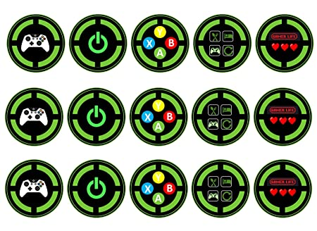 Gamer - Tarjeta de felicitación de Xbox para cupcakes (38 x ...