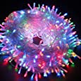 Decorative String lights 66ft 200 LEDs 8 color Changing modes Fairy Twinkle LED Light for Party, Wedding, Chirstmas, Garden and Home Decoration+Controller (Colorful)