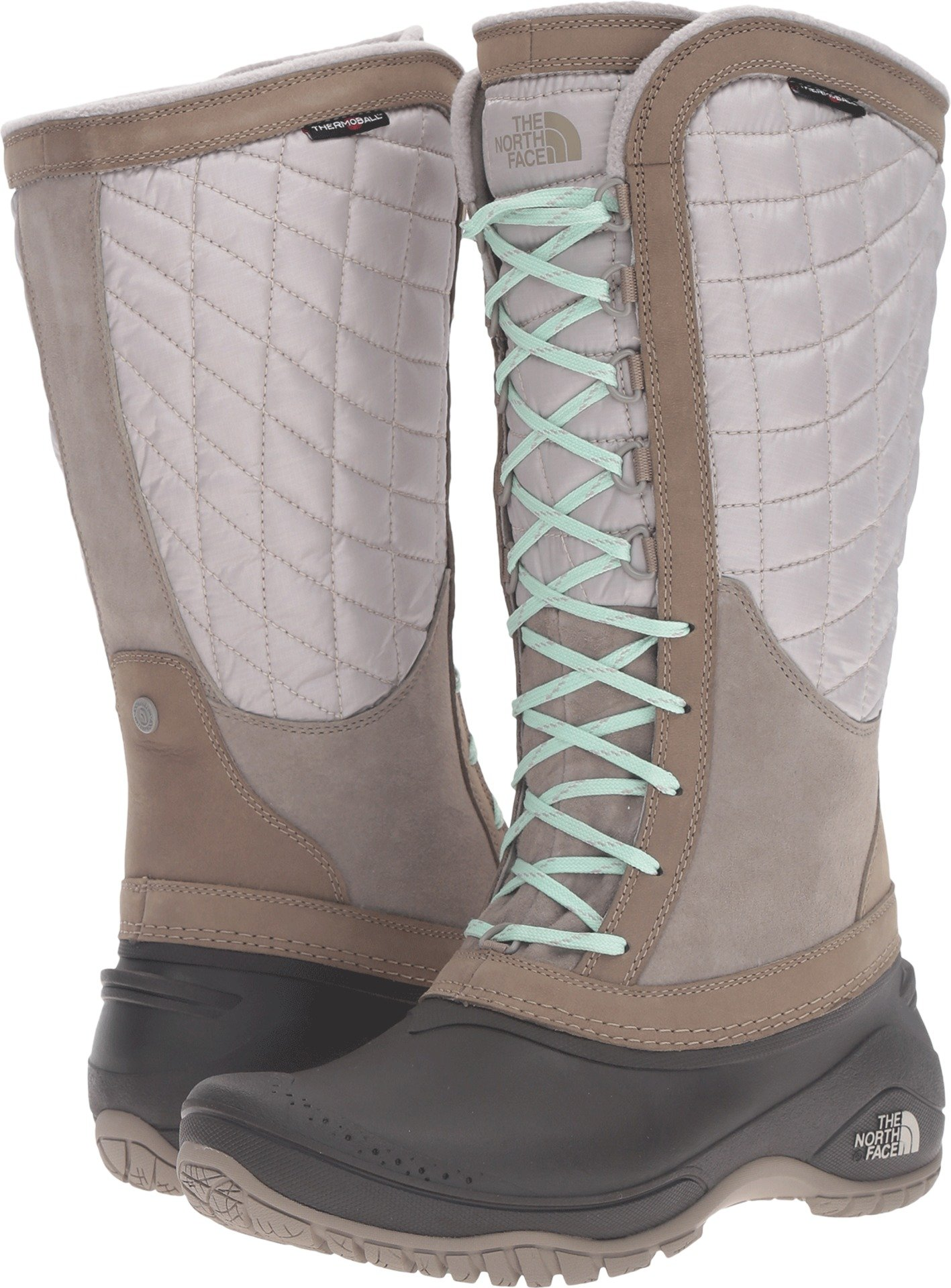 The North Face Thermoball Utility Boot Women's Split Rock Brown/Subtle Green 8