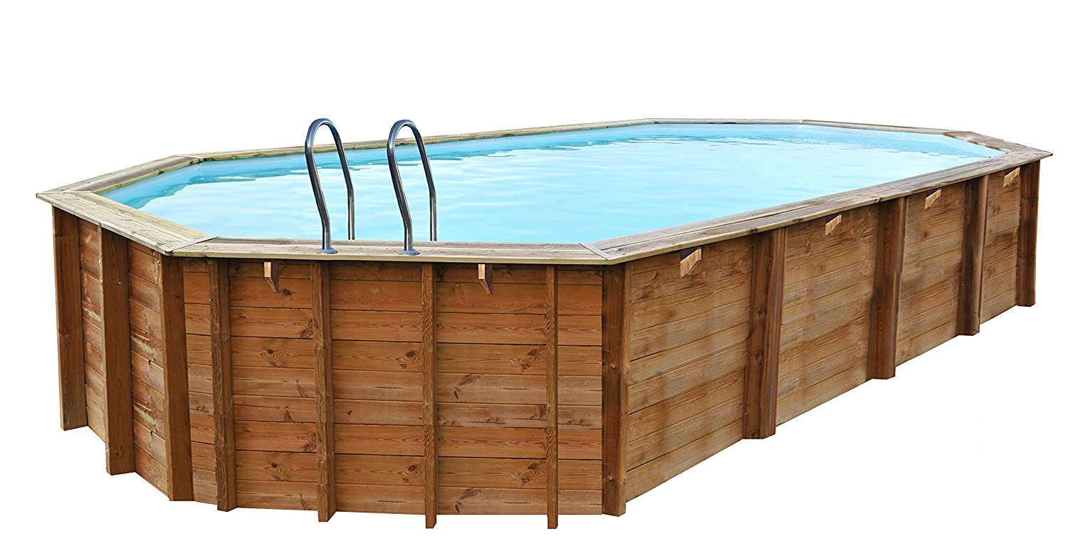 Piscina de madera GRE ovalada Sevilla Wooden Pool GRE 790091: Amazon ...